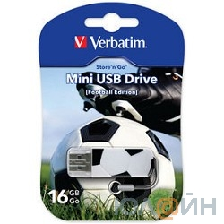 Verbatim USB Drive 16Gb Mini Graffiti Edition Football 049879 {USB2.0}