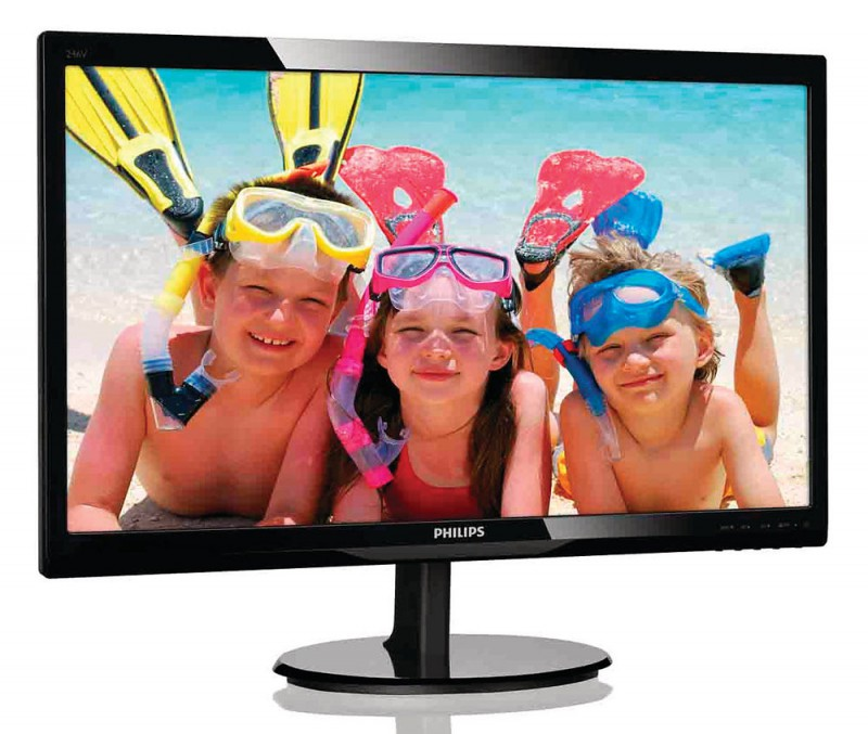 "LCD PHILIPS 24"" 246V5LHAB/01(00) Black {LED,1920x1080, 170/160, 20000000:1, 5ms, 250cd/m, HDMI}"